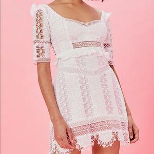 White For Love & Lemons Amandine Dress Size Med